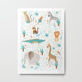 Into the Jungle - White Metal Print