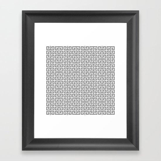 Gray and White Greek Key Pattern by annaleeblysse