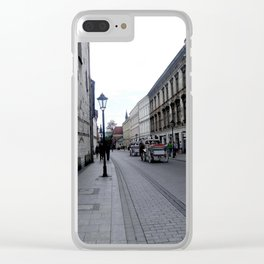 Horse Carriage in Krakow, Poland Clear iPhone Case