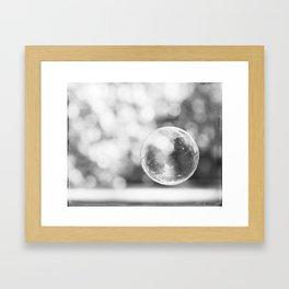 Black and White Bubble Photography, Grey Laundry Art, Gray Bathroom Decor Bubbles Laundry Room Photo Framed Art Print