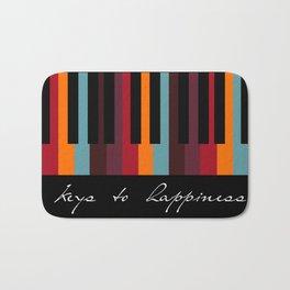 keys to happiness Bath Mat