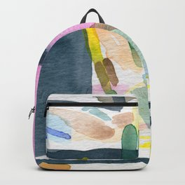 Abstract watercolor still life #2 Backpack