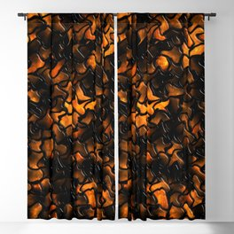 Ancient Amber Wobbly Mosaic Tiles Blackout Curtain