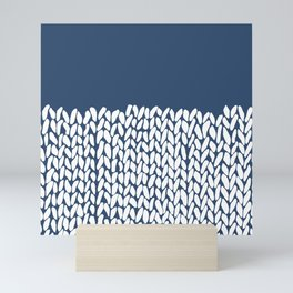 Half Knit Navy Mini Art Print
