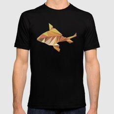 Geometric Goldfish MEDIUM Black Mens Fitted Tee