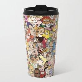 Cartoon Collage Travel Mug