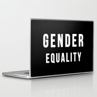 equality Laptop & iPad Skins featuring Gender Equality by worksbeautifully
