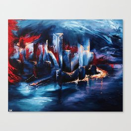 """City Lights"" Painting Canvas Print"
