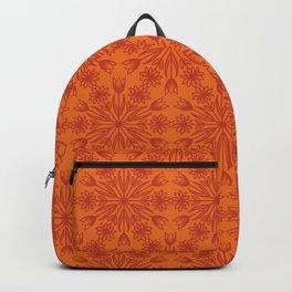 Spring Snowflake in Orange Backpack