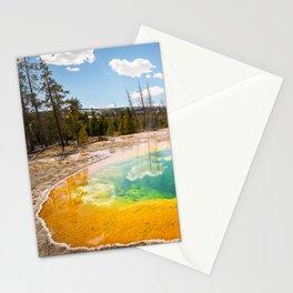Yellowstone National Park Morning Glory Pool Wyoming Landscape Stationery Cards