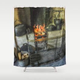 Olde Kitchen Fire Shower Curtain