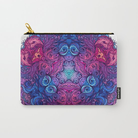 Purple & Blue Indian Mandala Carry-All Pouch