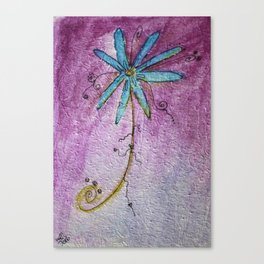 Scribble Flower Canvas Print