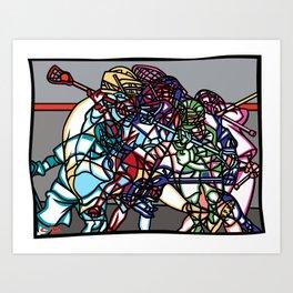 LAX Scramble Art Print