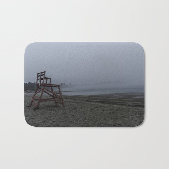 Niles Beach Foggy Evening Bath Mat