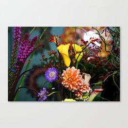 a gathering of flowers Canvas Print