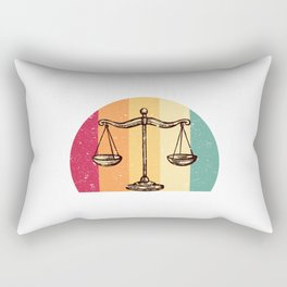 Scales Of Justice Lawyer Retro Gift Idea Rectangular Pillow