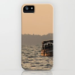 Kerala Houseboat at Sunset iPhone Case