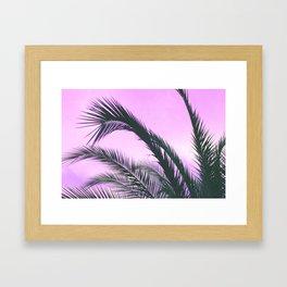 Purple Palm Trees Framed Art Print