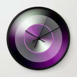 Serene Simple Hub Cap in Purple Wall Clock