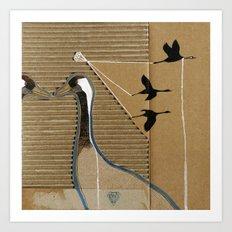 turnalar (cranes) Art Print