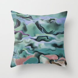 Waves In Harmony Throw Pillow