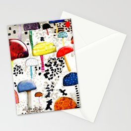 Mein Ein, mein Alles - Mushrooms Abstract Botanical Art - cute animal print - Leopard Muster Stationery Cards
