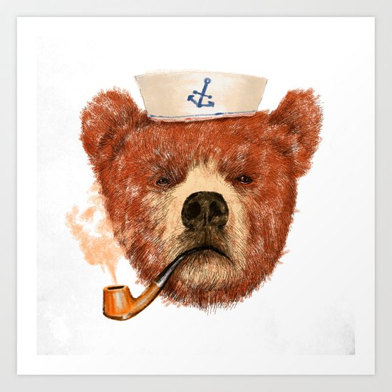 Mr.Bear Art Print
