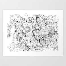 Fragments of dream Art Print
