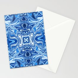 65 - Psychedelic Blues Stationery Cards