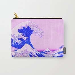 The Great Wave Remix in Pink Carry-All Pouch