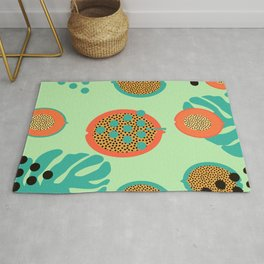 Grapes and tropical fruits Rug