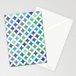 Stars - Sea Foam #477 Stationery Cards