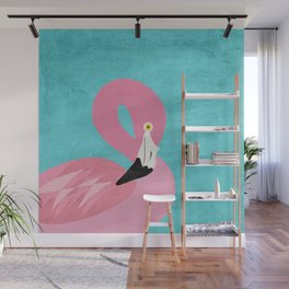 Modern Tropical Flamingo Art Print Wall Mural