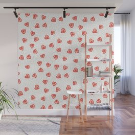 Sparkly hearts Wall Mural