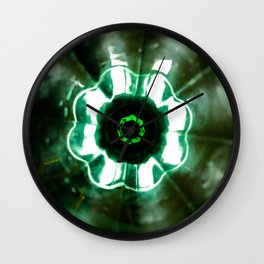Looking Glass - Green Wall Clock
