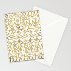 Norwegian Pattern – Gold on White Stationery Cards