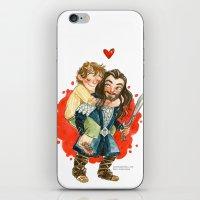 hobbit iPhone & iPod Skins featuring Hobbit Hug by Super Group Hugs