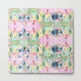 Ysmite Argate-minerals crystal, floral, pastel, abstract, hippie Metal Print