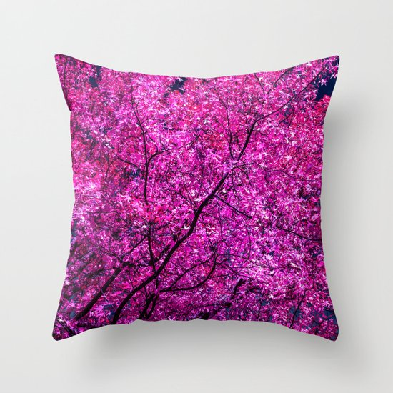 violet tree IV Throw Pillow