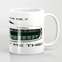 audi Mugs featuring Zaklassic - Z-06A by Zak Ashton
