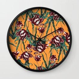 Orange Garden Wall Clock