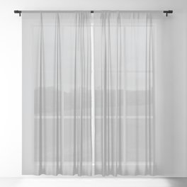 Stormy Grey - Light Neutral Mid Tone Gray Solid Color Sheer Curtain