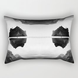 Black and White Isolation Island Rectangular Pillow