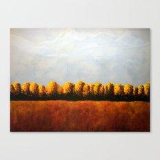 Treeline in Fall Canvas Print
