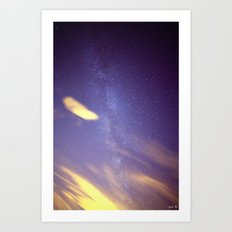 Cloudy with a Chance of Milky Way Art Print