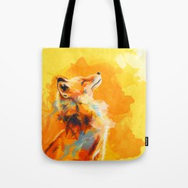 Blissful Light - Fox portrait Tote Bag