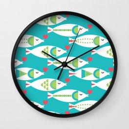 Kissy Fishy Wall Clock