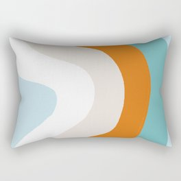 moab, teal & orange Rectangular Pillow