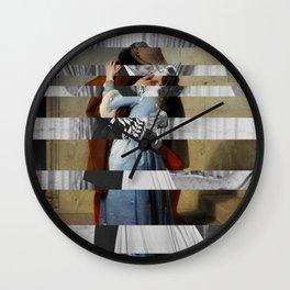 Hayez's The Kiss & Clark Gable and Vivien Leigh Wall Clock